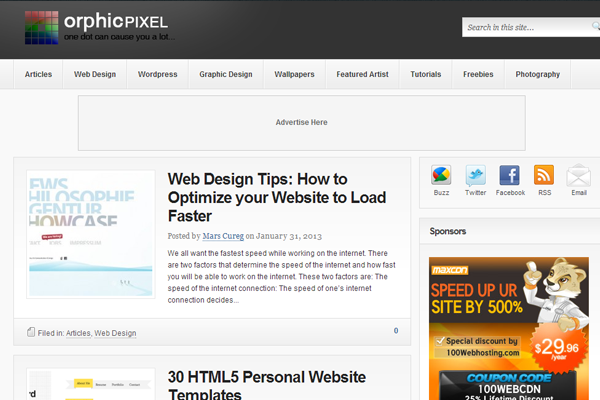 orphic pixel website webdesign inspiring posts