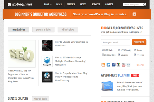 Wordpress Beginner tutorials blog magazine