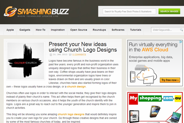 Smashing buzz website layout inspiration