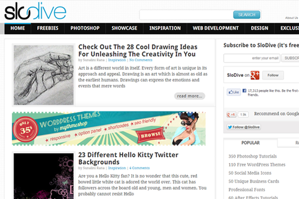 slodive freebies magazine web design blog