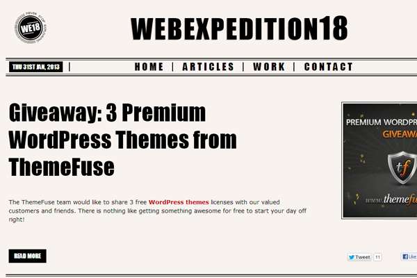 webexpedition 18 webdesign blog magazine layout