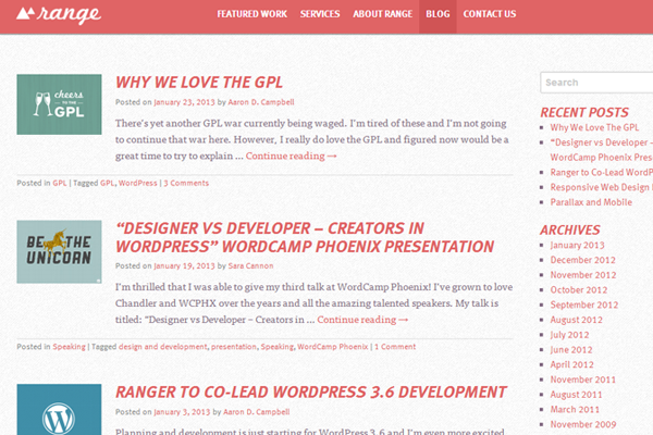 range website agency design blog articles