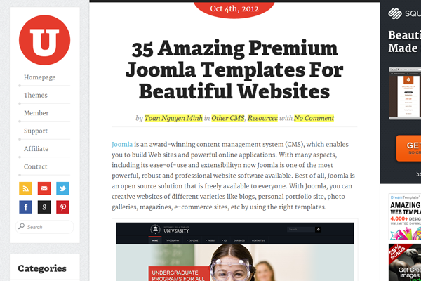 magazine blog uxde website interface inspiration