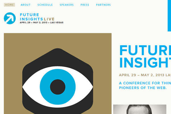 future insights conference website flat metro