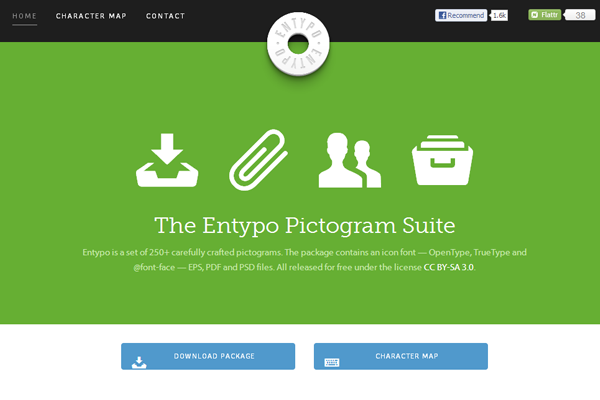 flat website buttons inspiration entypokit