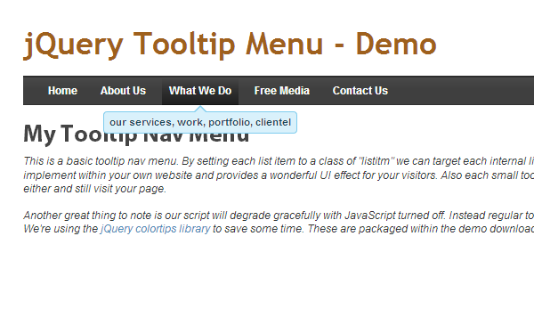 tooltips tutorial navigation bar tutorial