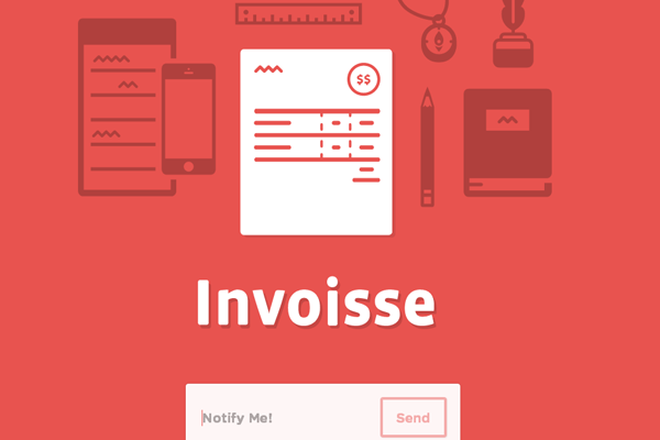 startup invoisse landing page website inspiration