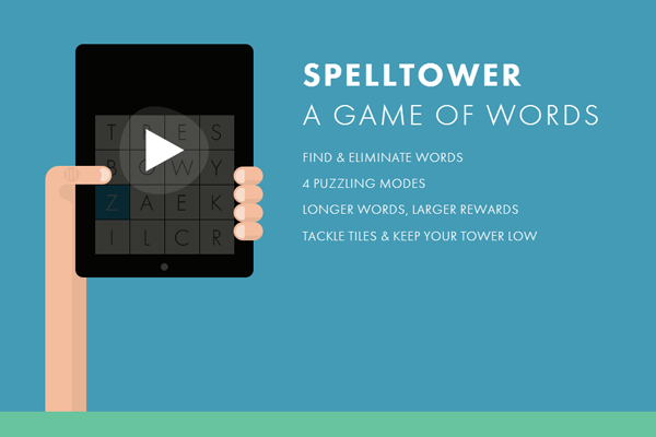 ios ipad app spelltower game landing website