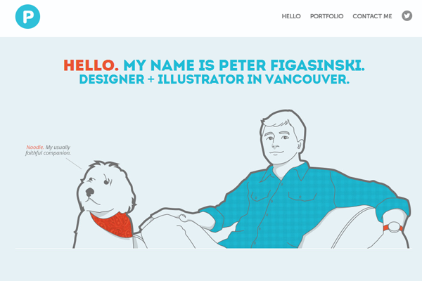 illustrator graphics website portfolio interface