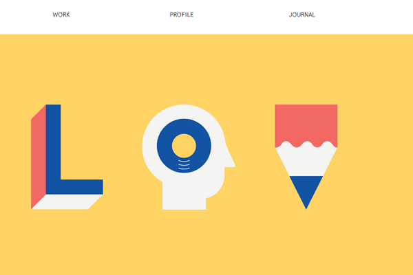 Lorenzo Verzini websiute flat interface designs