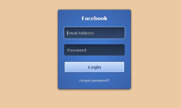 css html website login form effects input