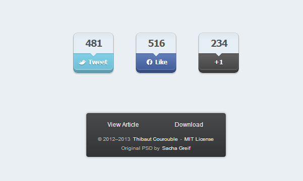 social media sharing buttons freebie open source
