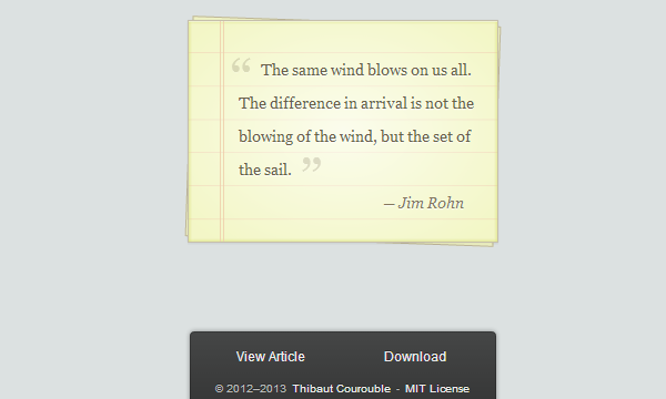 css3 notepaper block quote effect
