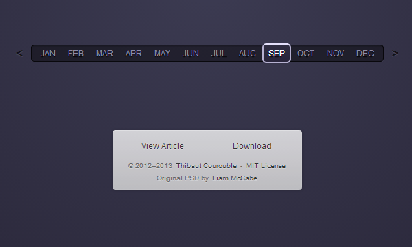 css3 generated input freebie month selection