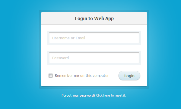 cssflow freebie snippet login form css3 html5 download