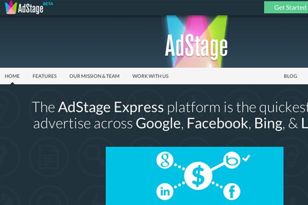 adstage io startup website brand inspiring