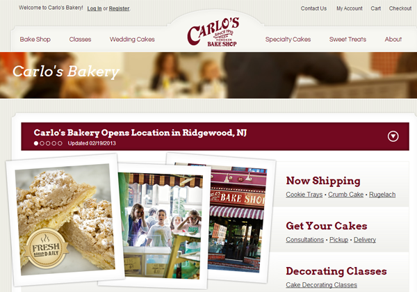 carlo bakery website layout inspiring cakes