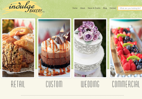 indulge bakery website layout inspiring ui