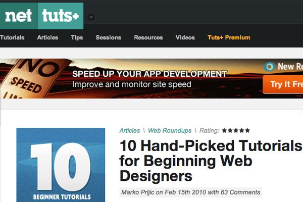 best top tutorials webdesigners beginners