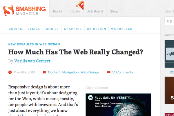 smashingmagazine web design defaults interface
