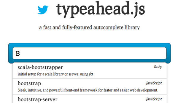 jquery typeahead js open source plugin