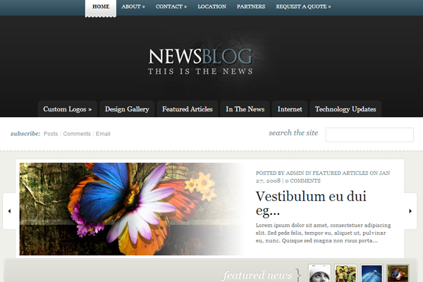 news source blog website theme dark premium