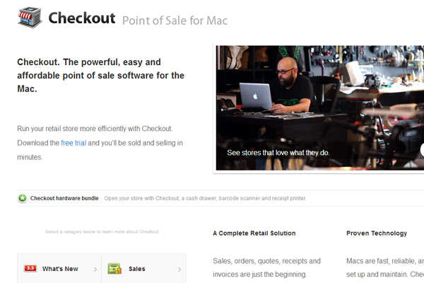 osx apple application checkout point of sale branding