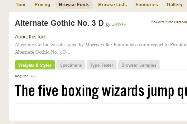 big capitals gothic thick webfont typekit