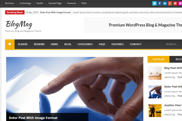 magazine wordpress theme blogmag