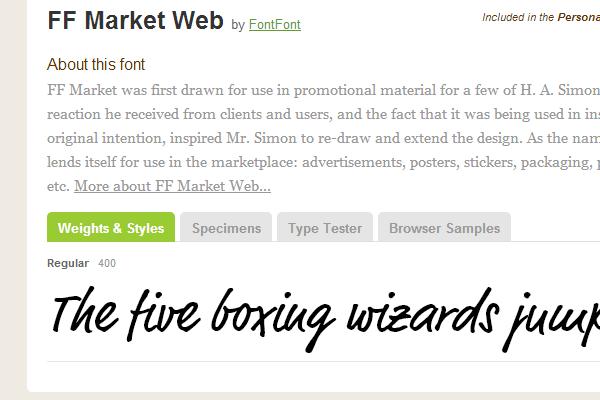 market ffweb webfont typekit gallery