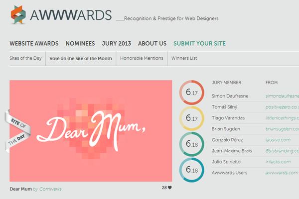 web design gallery awwwards homepage branding