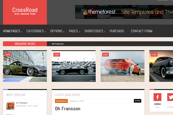 premium blogging theme crossroad wordpress