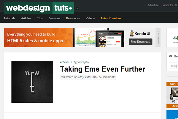 envato network tuts+ homepage inspiration webdesign