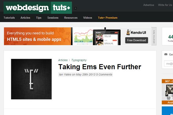 envato network tuts+ homepage inspiration webdesign