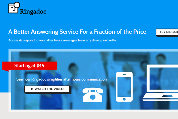 doctor after hour calls ringadoc startup branding logo