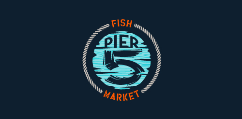 logo design inspiration pier5 fish