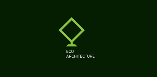 green architecture logo design inspiration