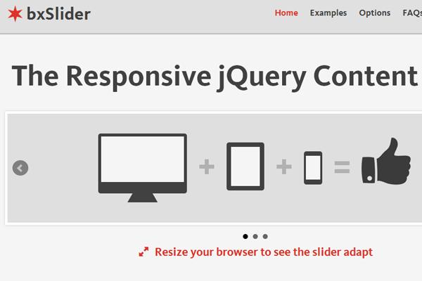 bxslider jquery responsive plugin slideshow