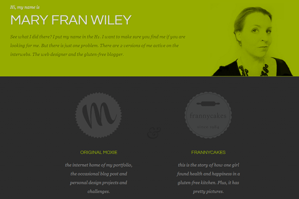 mary fran wiley portfolio website