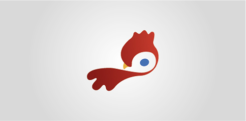 red birdie logo inspiration design