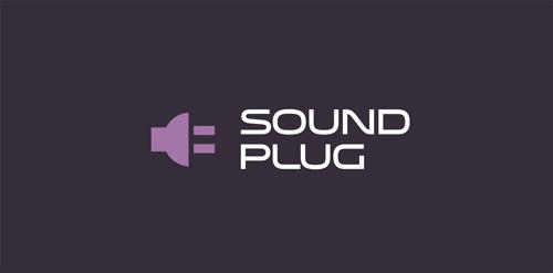 sound plug typography logo design inspire