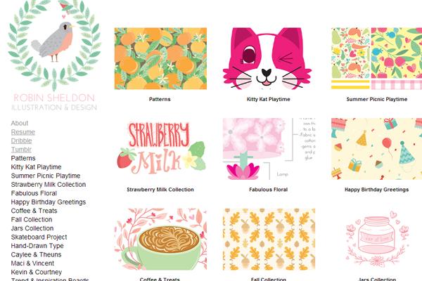 robin sheldon webstie designer portfolio layout