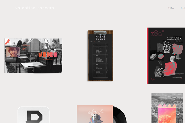 valentina sanders portfolio designer