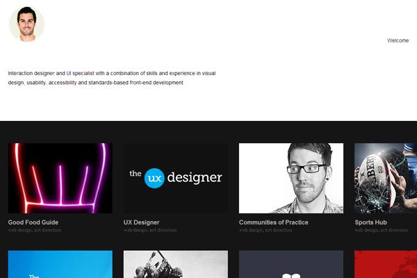 simon rae website portfolio designer