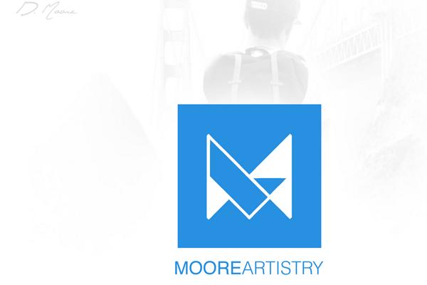 dmoore artist portfolio website layout
