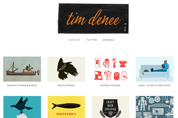 tim denee website layout designer graphics