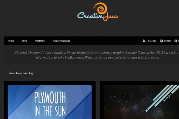 jason stanley website designer portfolio layout
