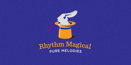 rhythm magical logo purple bunny hat