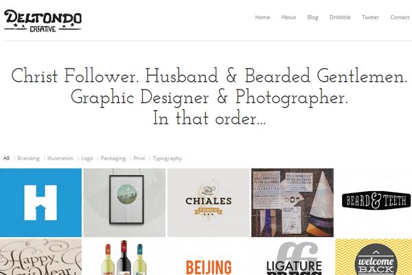 peter deltondo website portfolio layout designer