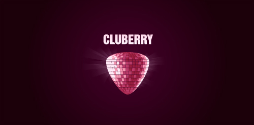 club berry purple logo disco ball picture